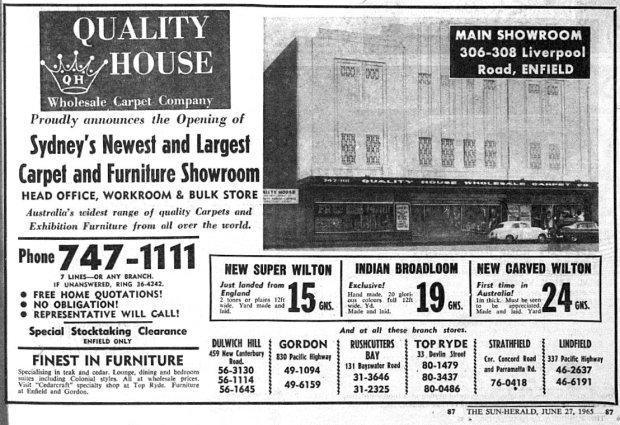 Quality House advertisement, June 27 1965