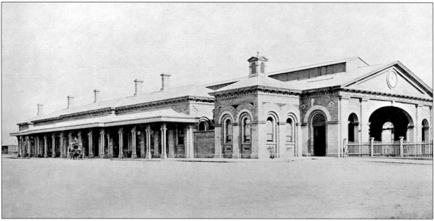 Sydney Terminal, the forerunner of Central Station, 1874. Image courtesy ARHS Rail Resource Centre.