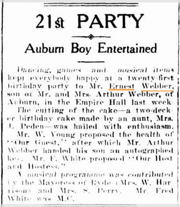 Cumberland Argus, June 10 1935.