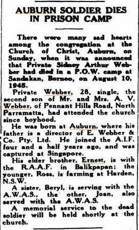 Cumberland Argus, November 28 1945.