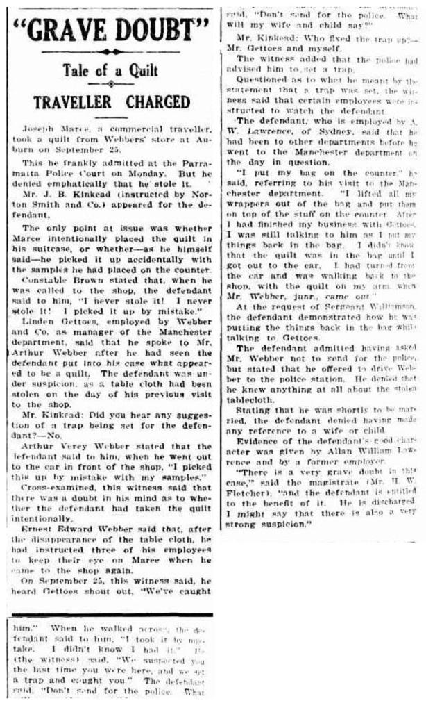 Cumberland Argus, October 3 1929.