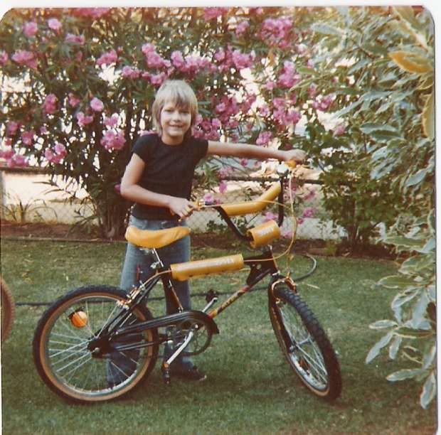A man and his ride, 1981. Image courtesy whiteirisbmx/OzBMX.com.au