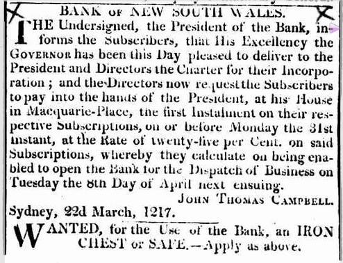 Sydney Gazette, March 29 1817
