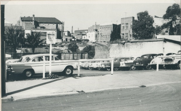 Cross St Car Park in happier times, 1976. Image courtesy Hurstville Council