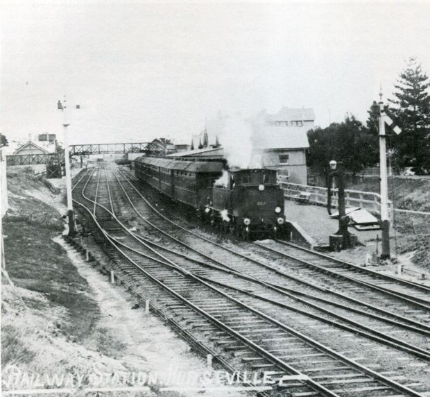 Hurstville Station, 1910. Image courtesy Hurstville Council