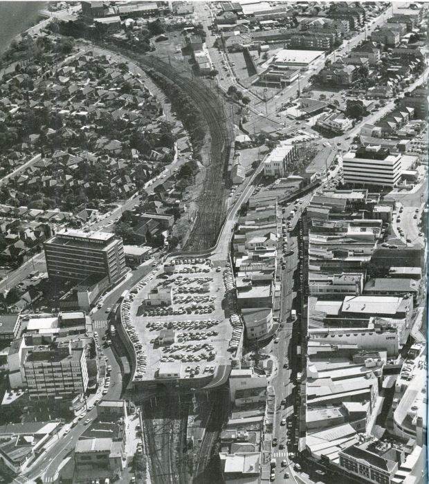 The view from above, 1986. Image courtesy Hurstville Council