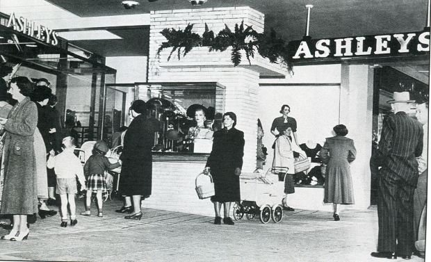 Stepping out at Ashleys, 1954. Image courtesy Hurstville Council