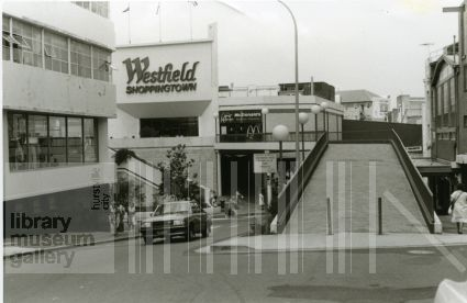 McDonalds was a full on restaurant at the top of the ramp, 1980. Image courtesy Hurstville Library