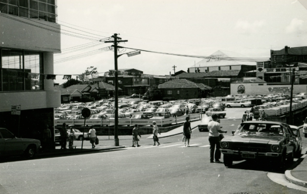 Council Car Park, Crofts Ave & Cross Street, 1976. Image courtesy Hurstville Council.