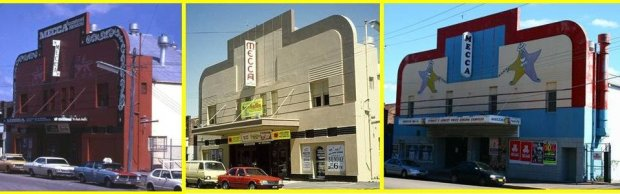 Kogarah Mecca through the ages. Image courtesy Ken Taylor/Sydney Cinema Flashbacks